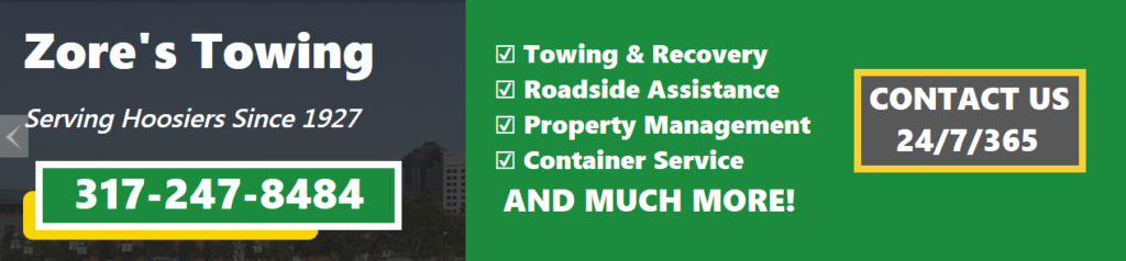 Zore's Towing Towing Wrecker Service Indianapolis